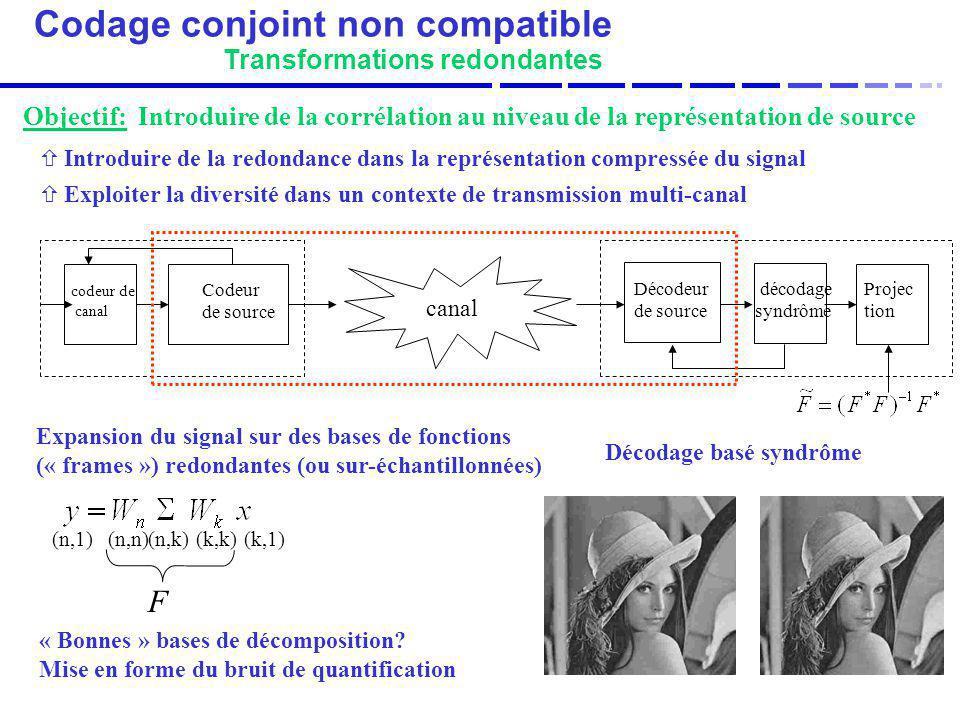 Codage conjoint non compatible