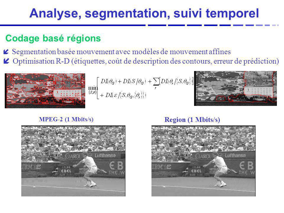 Analyse, segmentation, suivi temporel