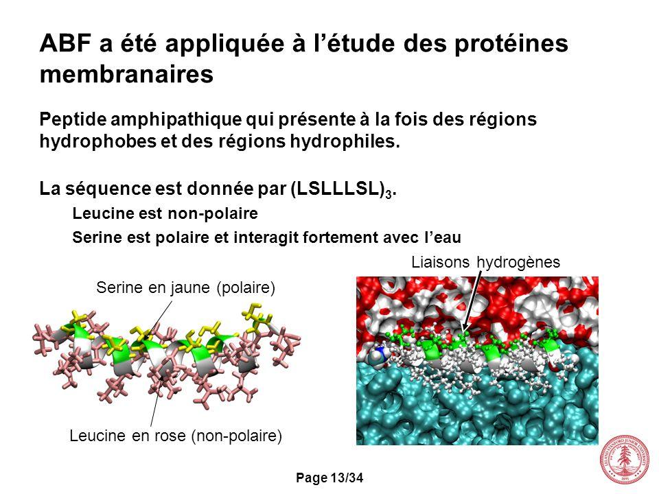 ABF a été appliquée à l'étude des protéines membranaires