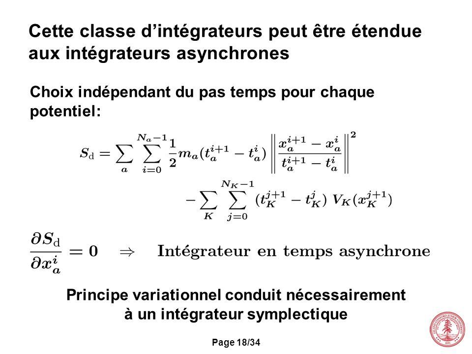 Cette classe d'intégrateurs peut être étendue aux intégrateurs asynchrones