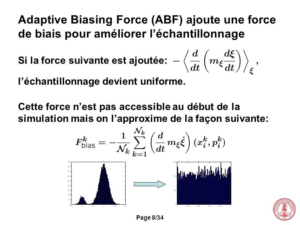 Adaptive Biasing Force (ABF) ajoute une force de biais pour améliorer l'échantillonnage