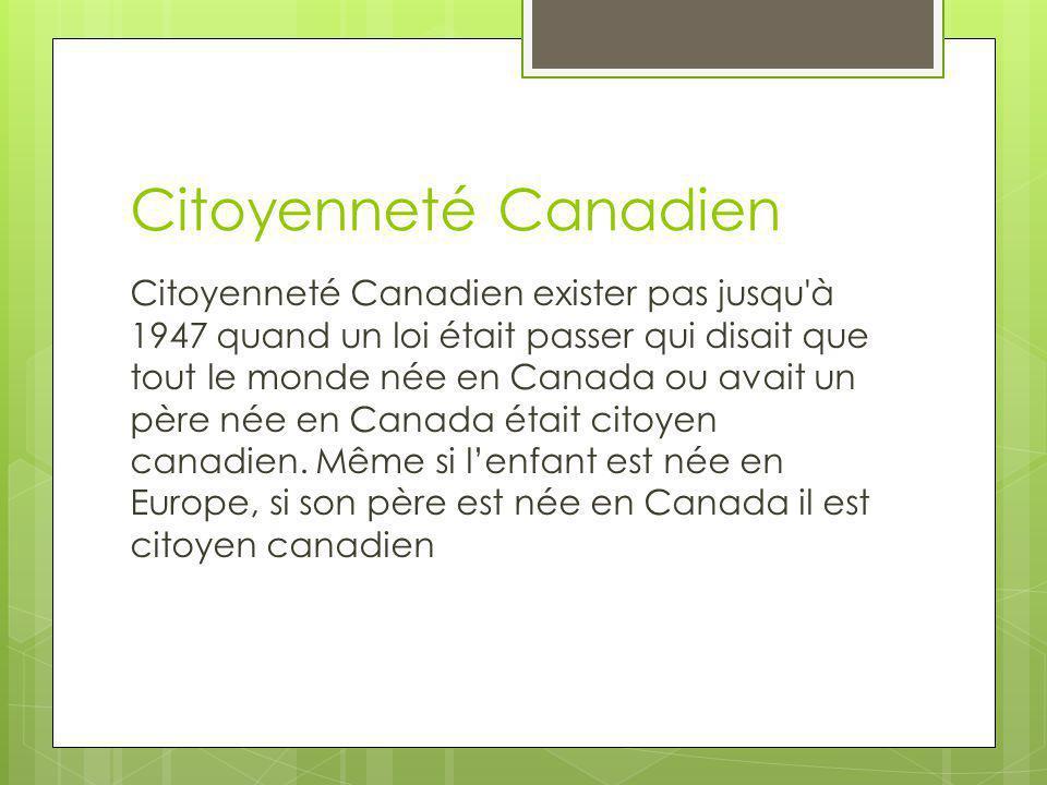 Citoyenneté Canadien