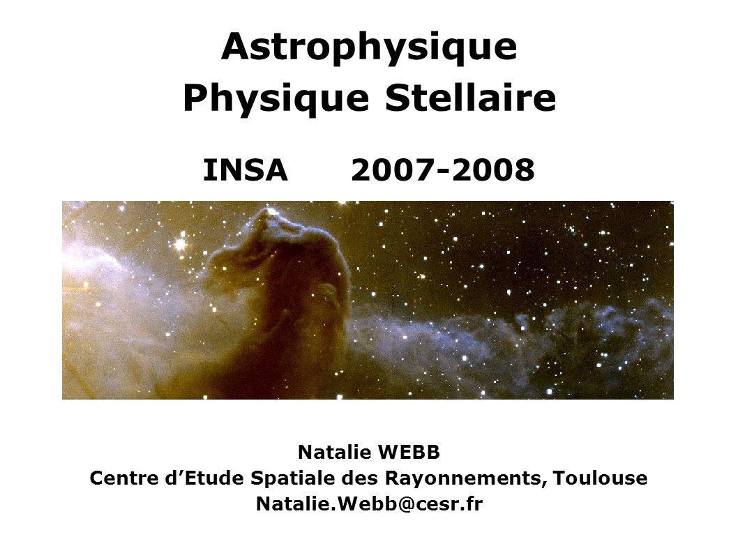 Astrophysique Physique Stellaire