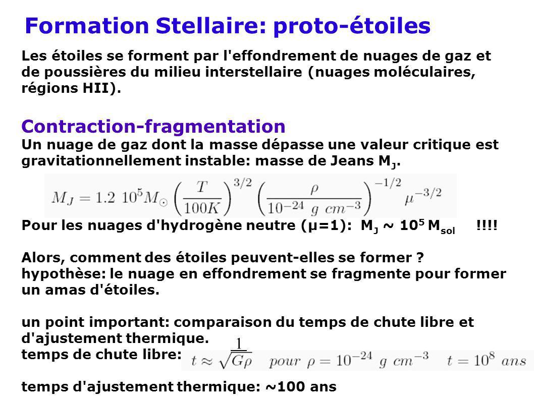 Formation Stellaire: proto-étoiles