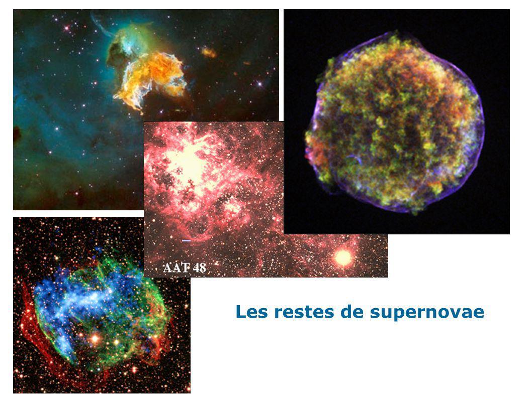 Les restes de supernovae.