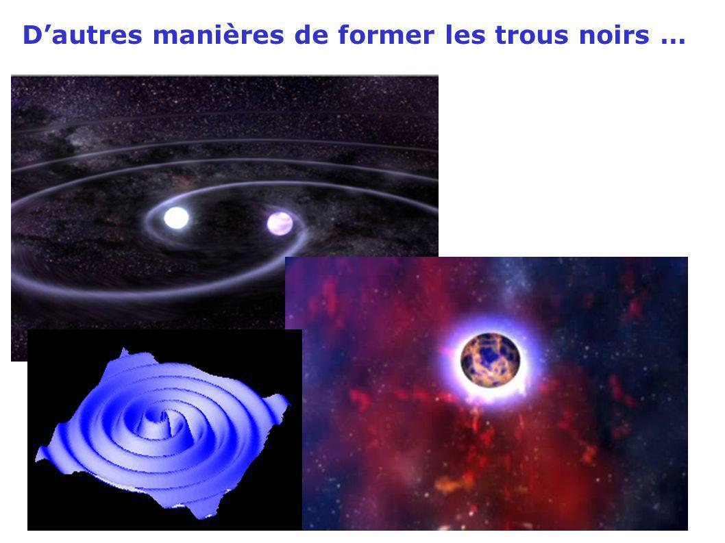 D'autres manières de former les trous noirs …
