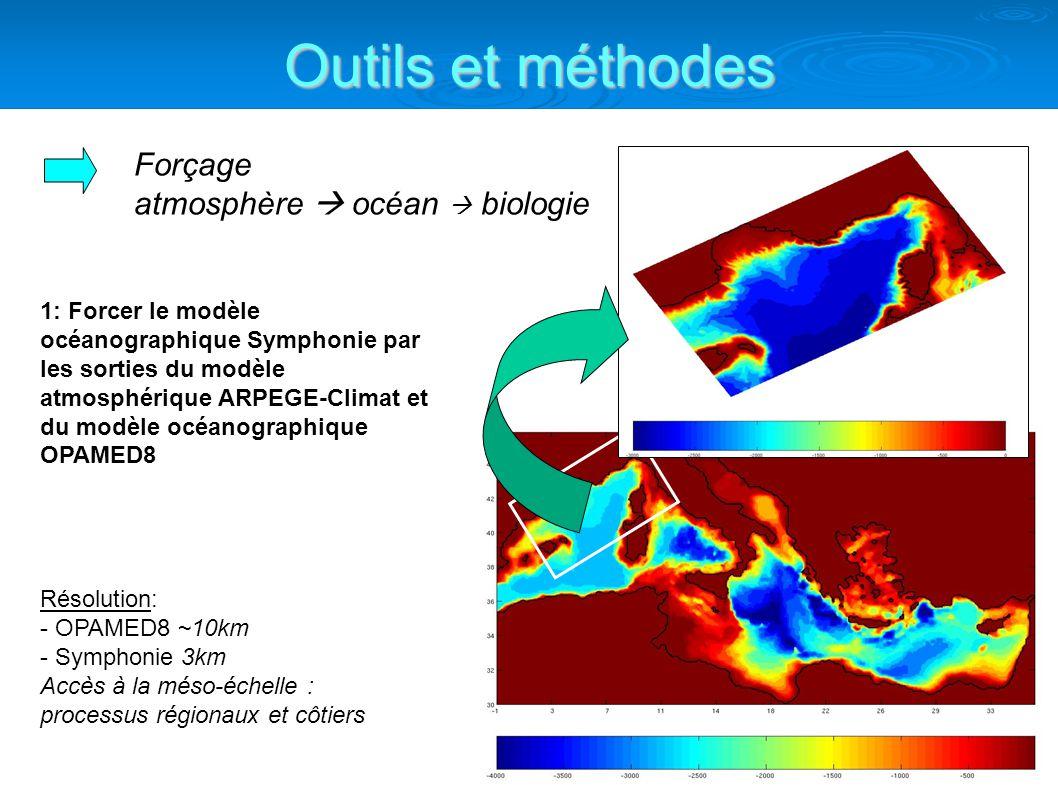 Outils et méthodes Forçage atmosphère  océan  biologie
