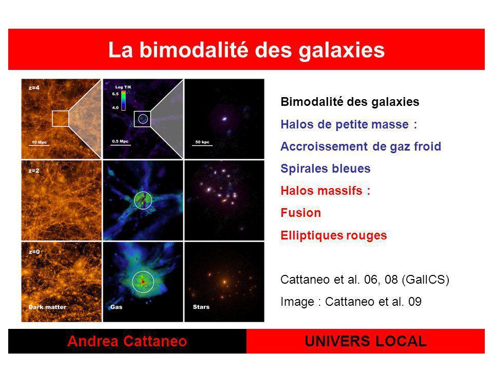 La bimodalité des galaxies