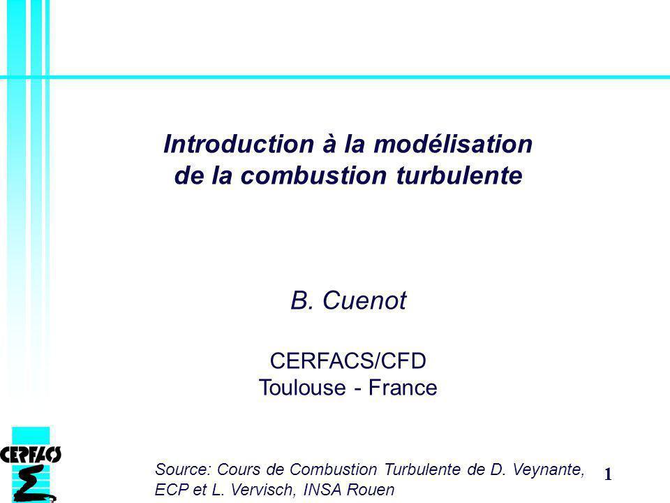 Introduction à la modélisation de la combustion turbulente