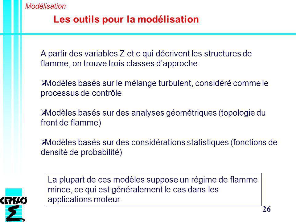 Les outils pour la modélisation