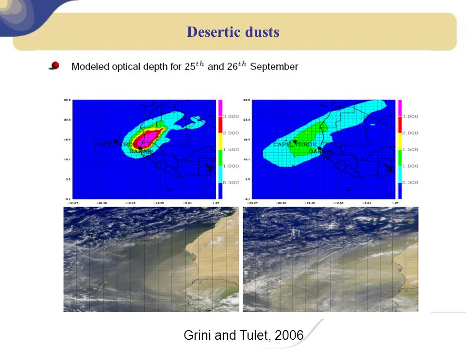 Desertic dusts Grini and Tulet, 2006