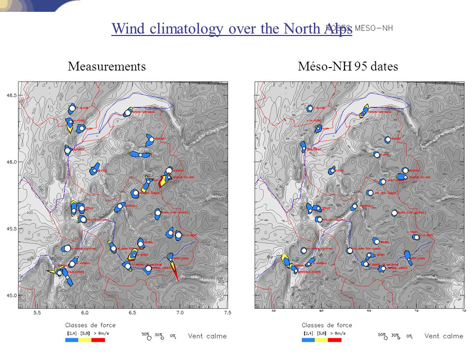 Wind climatology over the North Alps