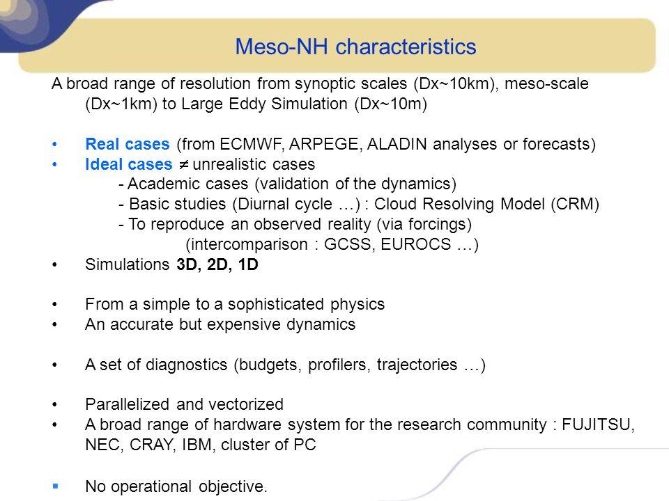 Meso-NH characteristics