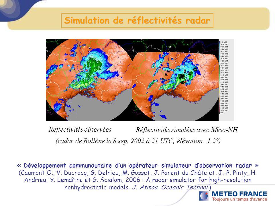 Simulation de réflectivités radar
