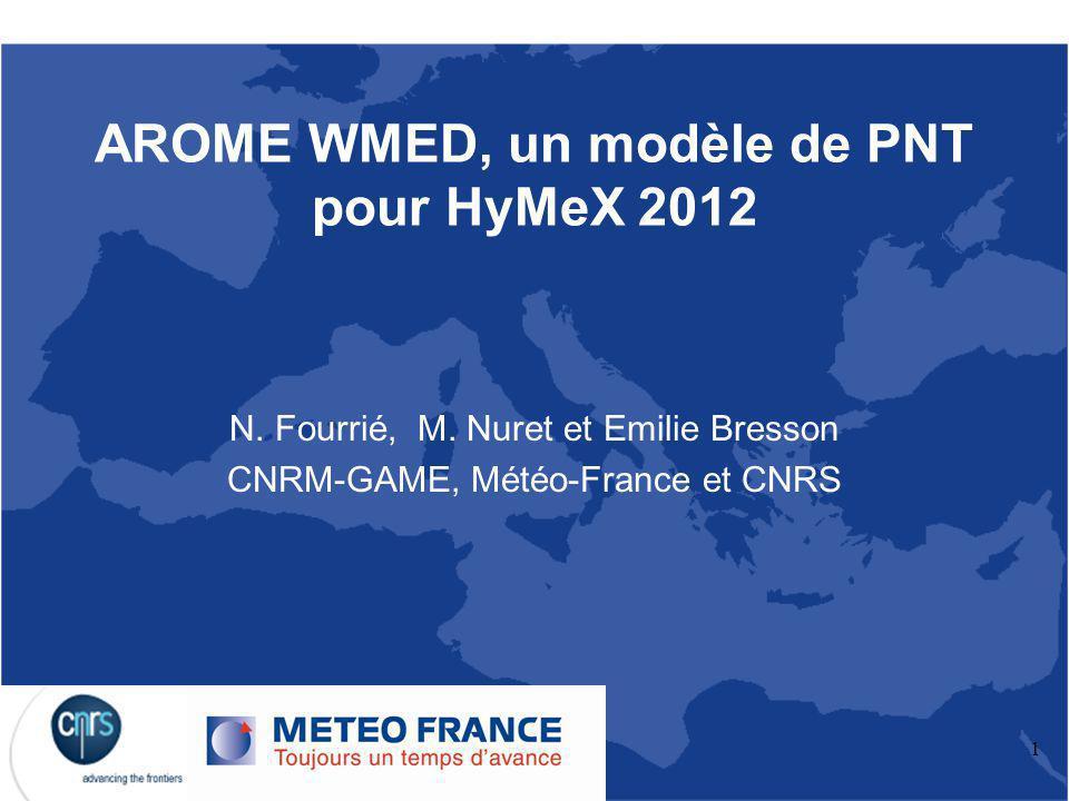 AROME WMED, un modèle de PNT pour HyMeX 2012