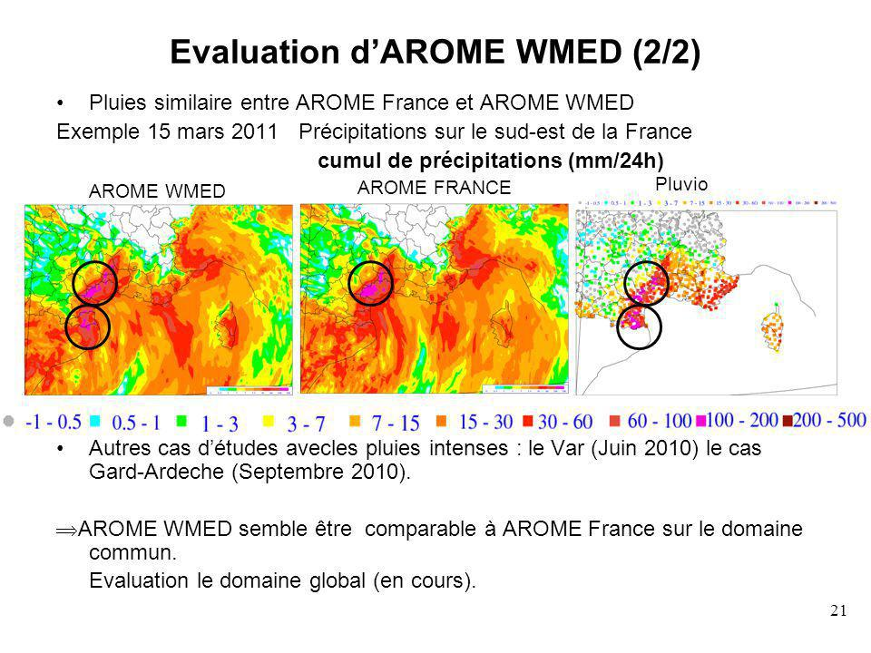 Evaluation d'AROME WMED (2/2)