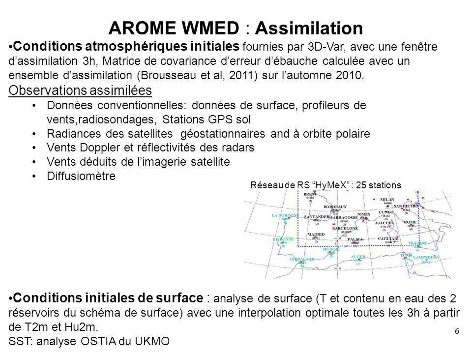 AROME WMED : Assimilation