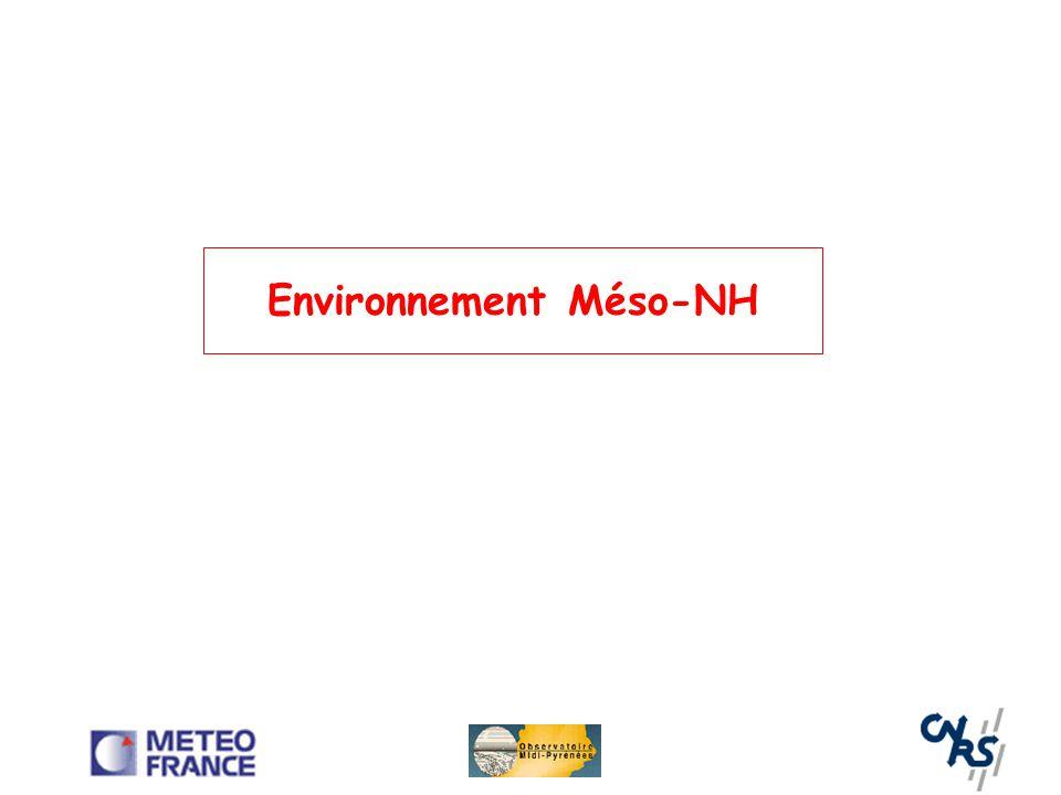 Environnement Méso-NH