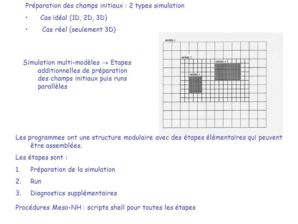 Préparation des champs initiaux : 2 types simulation