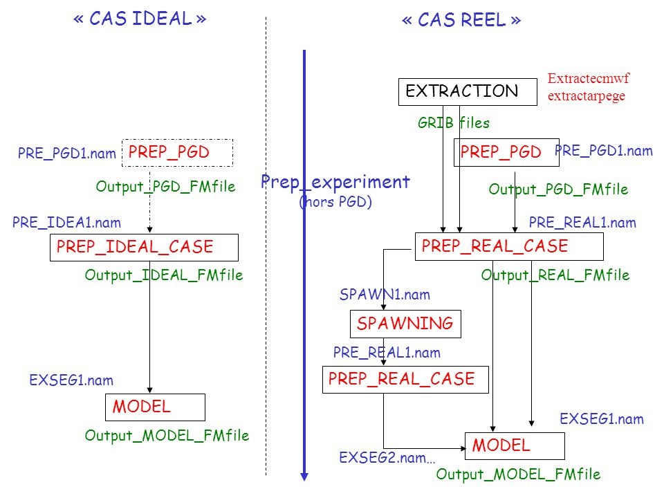 « CAS IDEAL » « CAS REEL » Prep_experiment EXTRACTION PREP_PGD