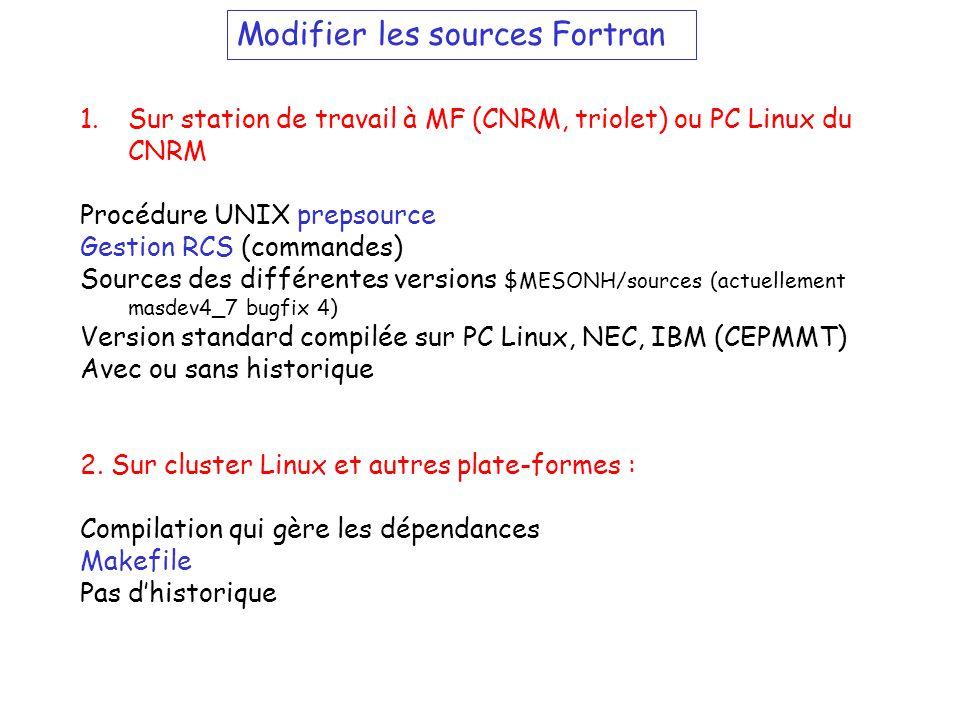 Modifier les sources Fortran