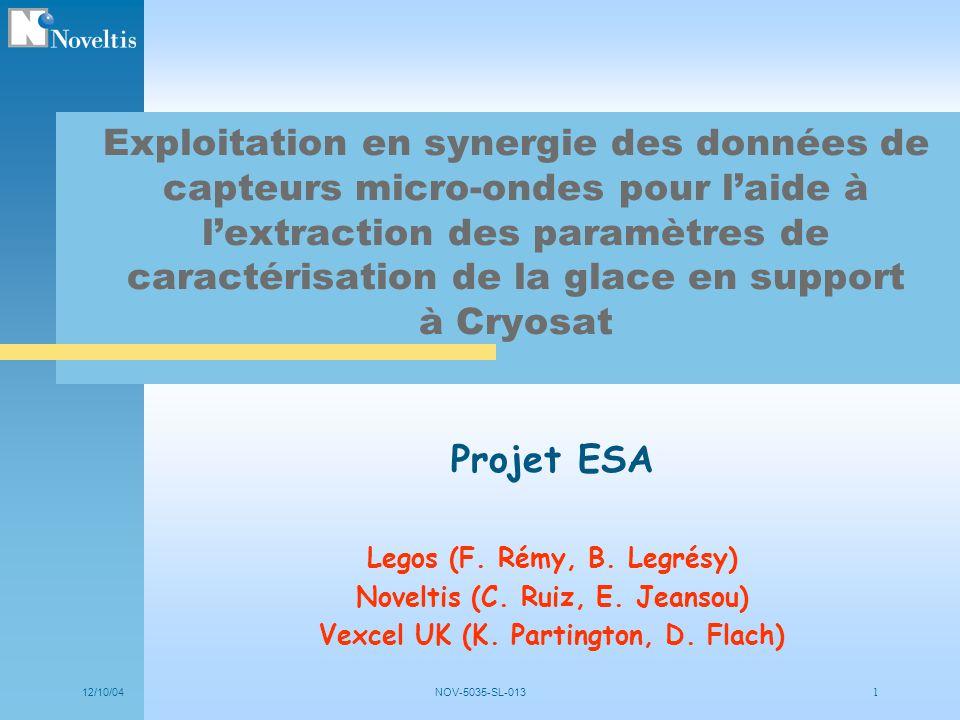 Exploitation en synergie des données de capteurs micro-ondes pour l'aide à l'extraction des paramètres de caractérisation de la glace en support à Cryosat