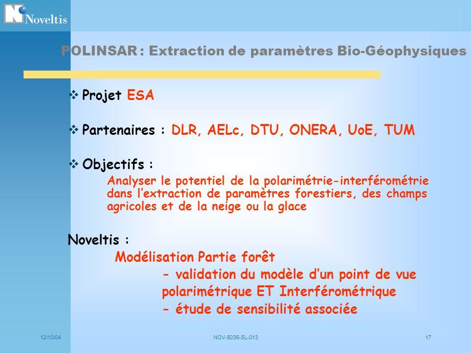 POLINSAR : Extraction de paramètres Bio-Géophysiques
