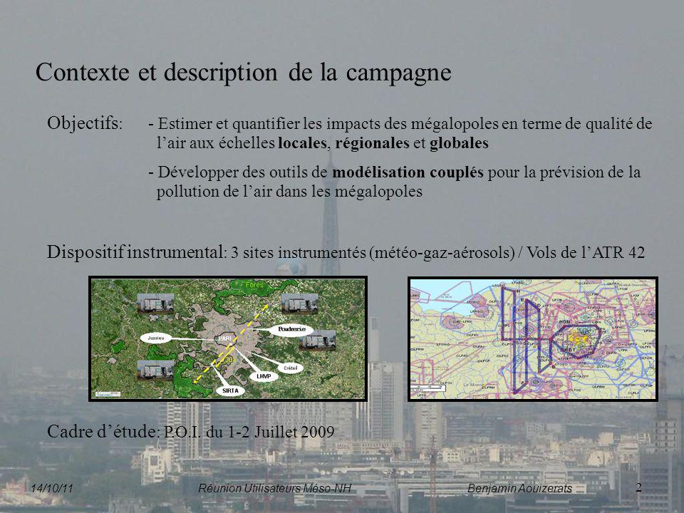 Contexte et description de la campagne