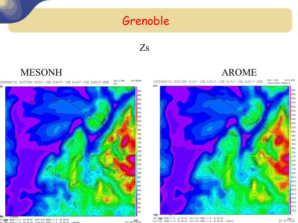 Grenoble Zs MESONH AROME