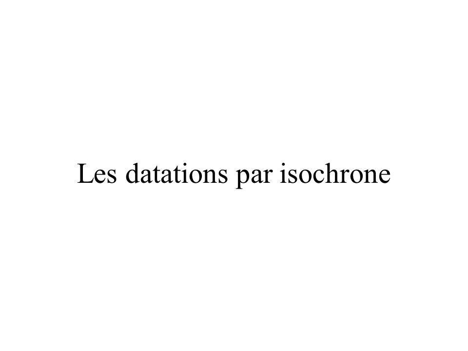 Les datations par isochrone