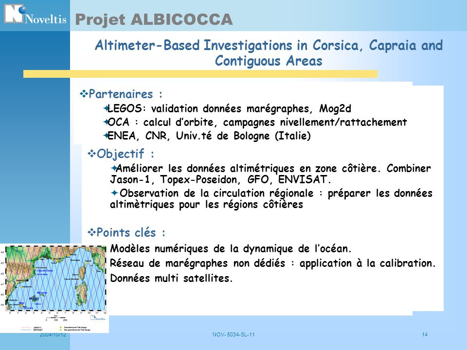 Projet ALBICOCCA Altimeter-Based Investigations in Corsica, Capraia and Contiguous Areas. Partenaires :