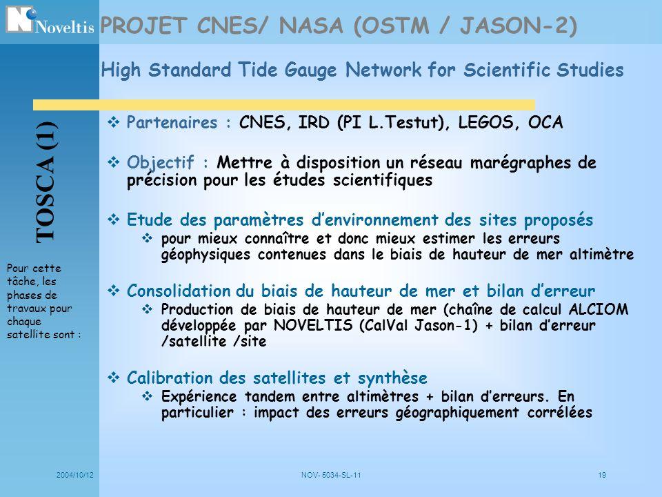 TOSCA (1) PROJET CNES/ NASA (OSTM / JASON-2)
