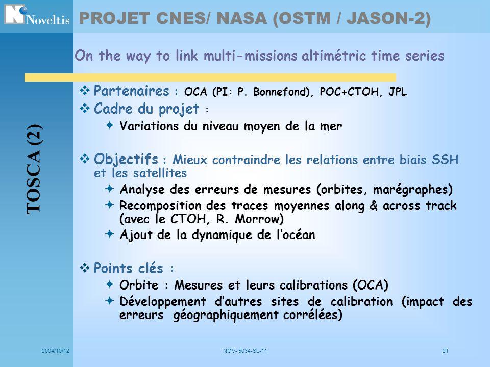 TOSCA (2) PROJET CNES/ NASA (OSTM / JASON-2)