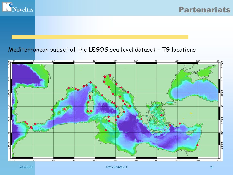 Partenariats Mediterranean subset of the LEGOS sea level dataset – TG locations.