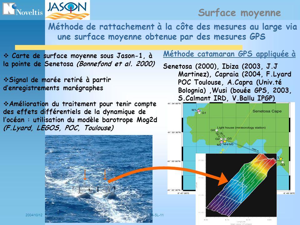 Surface moyenne Méthode de rattachement à la côte des mesures au large via une surface moyenne obtenue par des mesures GPS.