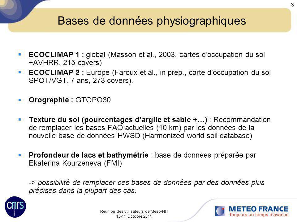 Bases de données physiographiques