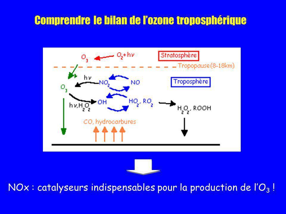Comprendre le bilan de l'ozone troposphérique