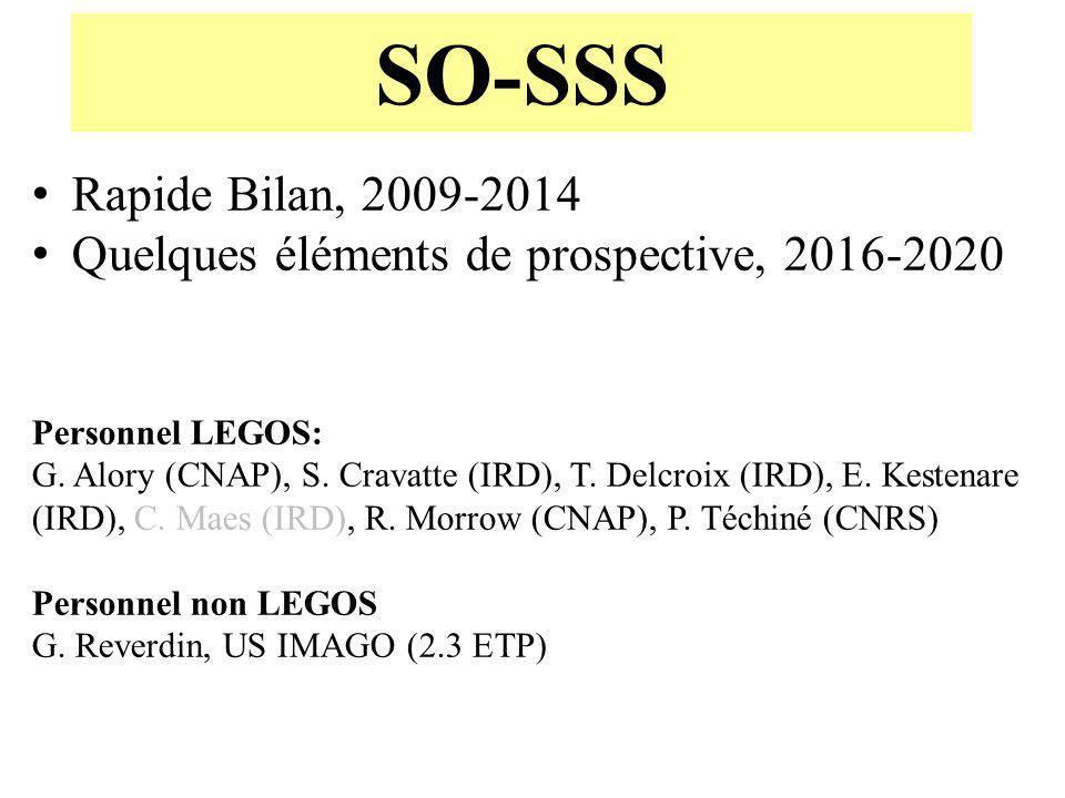 SO-SSS Rapide Bilan, 2009-2014. Quelques éléments de prospective, 2016-2020. Personnel LEGOS: