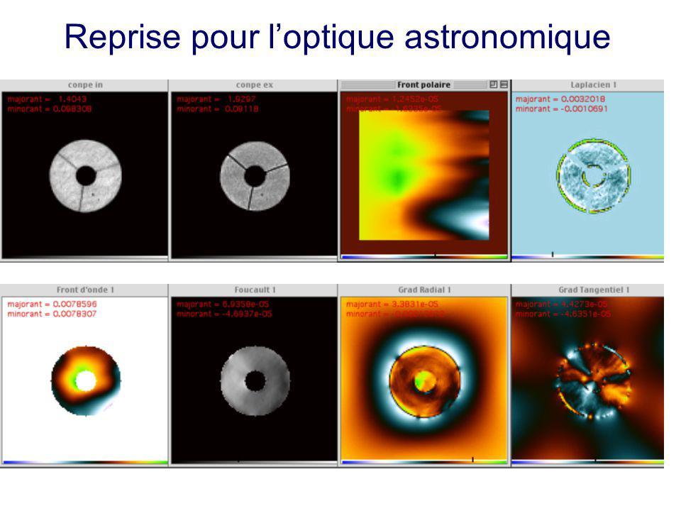Reprise pour l'optique astronomique