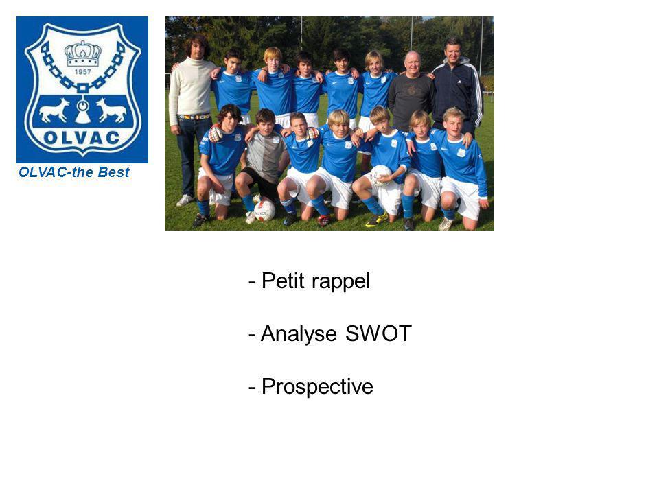 OLVAC OLVAC-the Best - Petit rappel - Analyse SWOT - Prospective