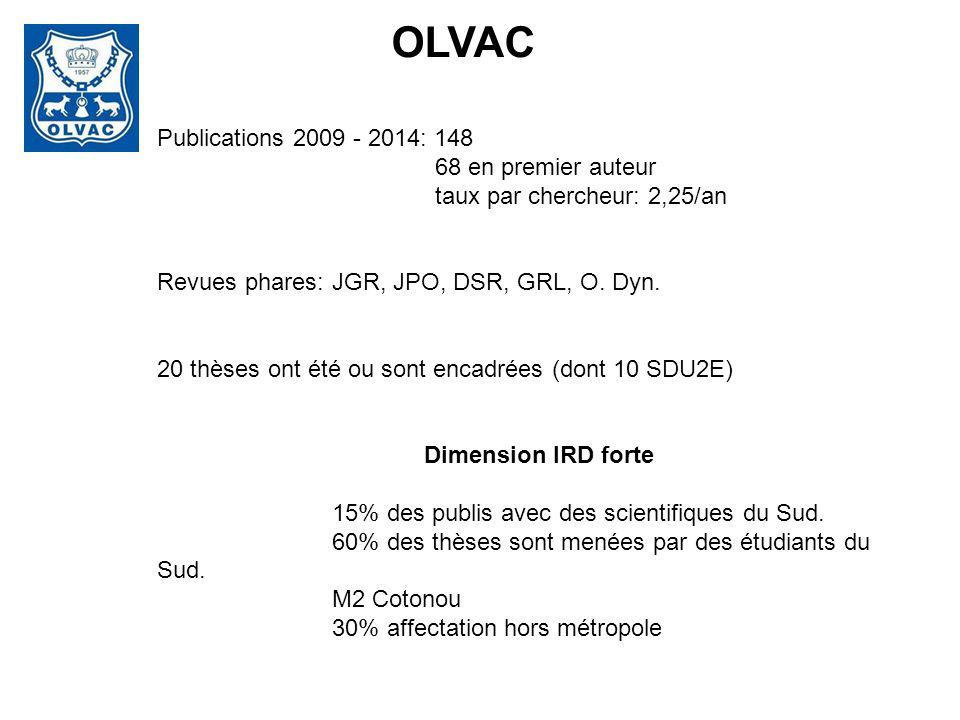 OLVAC Publications 2009 - 2014: 148 68 en premier auteur