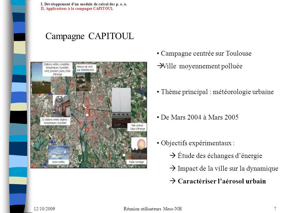 Campagne CAPITOUL Campagne centrée sur Toulouse