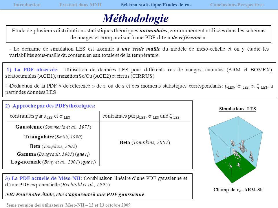 5ème réunion des utilisateurs Méso-NH – 12 et 13 octobre 2009