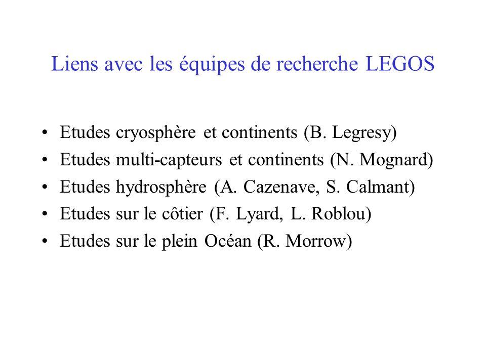 Liens avec les équipes de recherche LEGOS