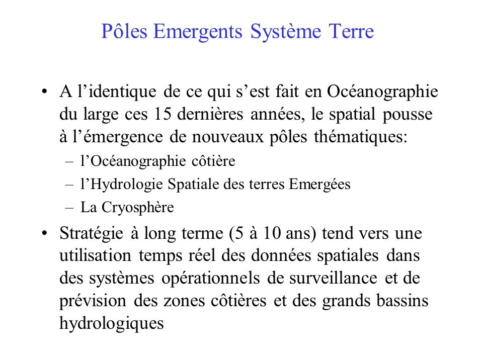 Pôles Emergents Système Terre