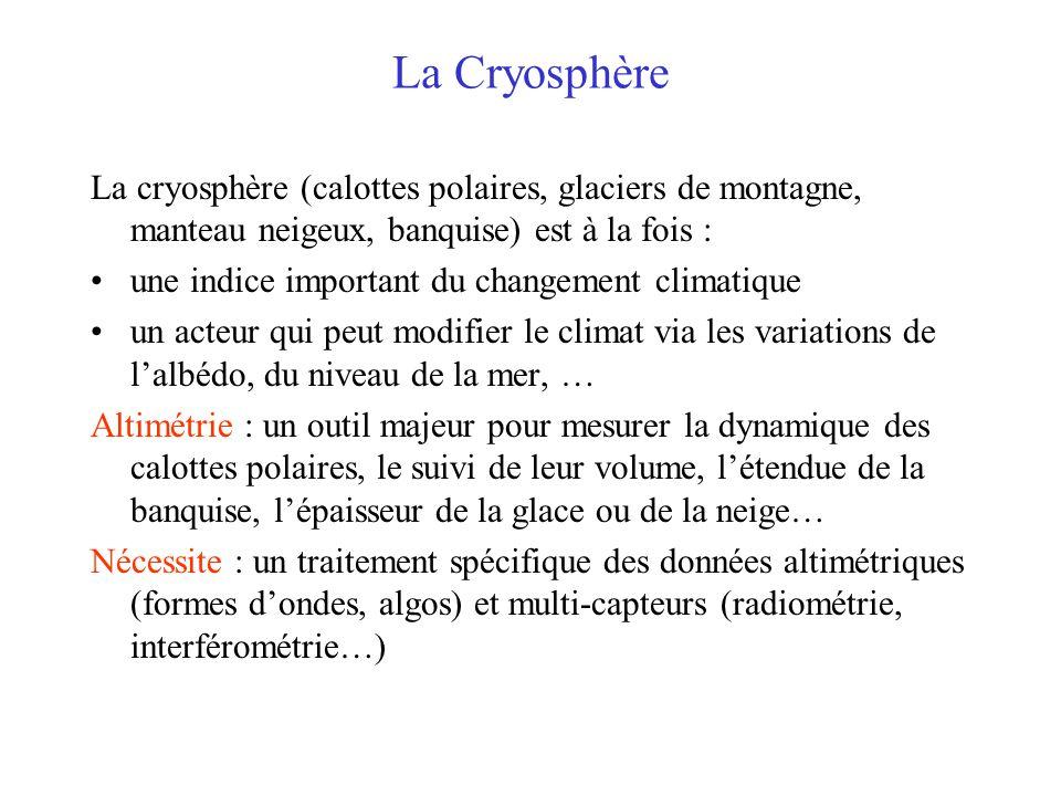 La Cryosphère La cryosphère (calottes polaires, glaciers de montagne, manteau neigeux, banquise) est à la fois :