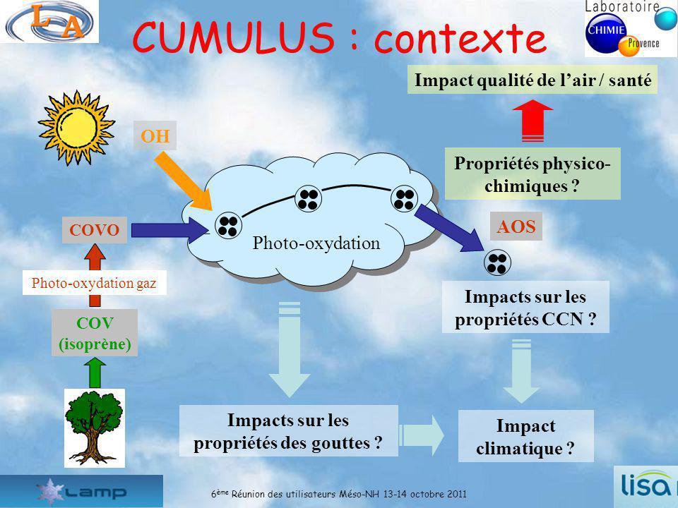 CUMULUS : contexte Impact qualité de l'air / santé OH