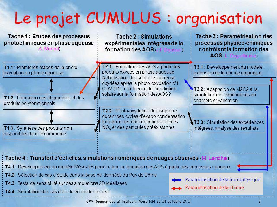 Le projet CUMULUS : organisation