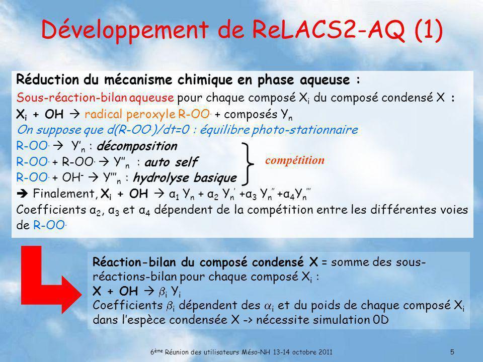 Développement de ReLACS2-AQ (1)