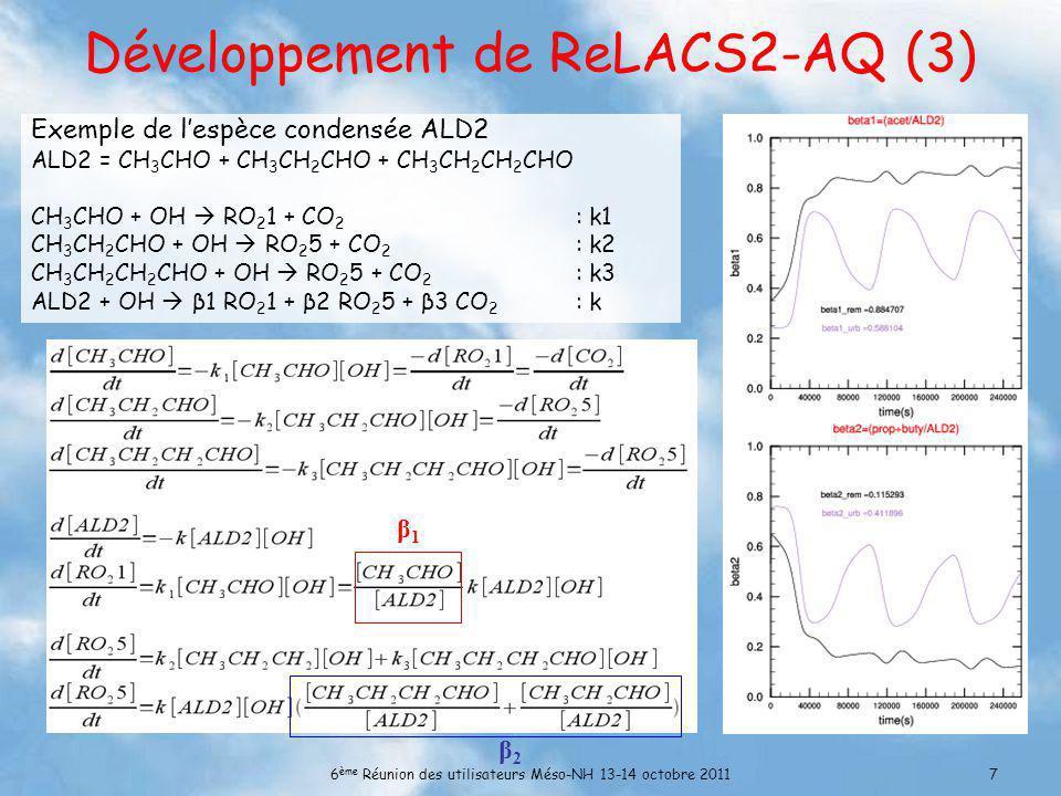 Développement de ReLACS2-AQ (3)